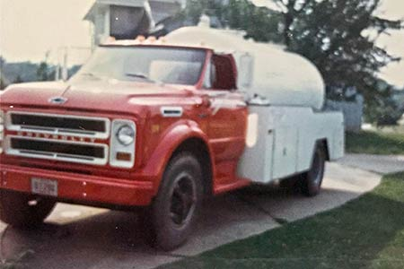 Photos of Original Supeck Septic Systems truck circa 1969