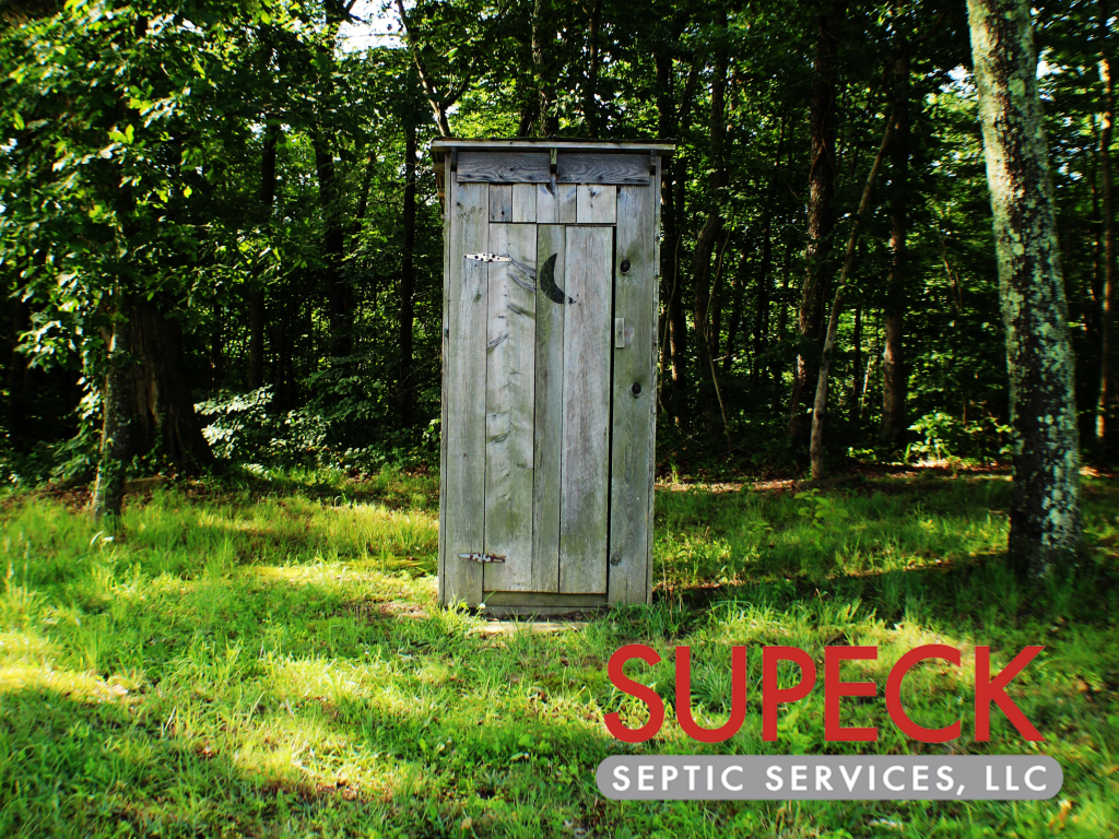 History of the Septic System picture of outhouse