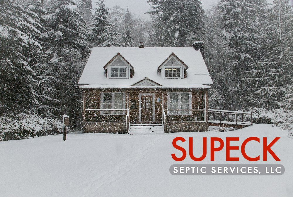 Winter home with septic system