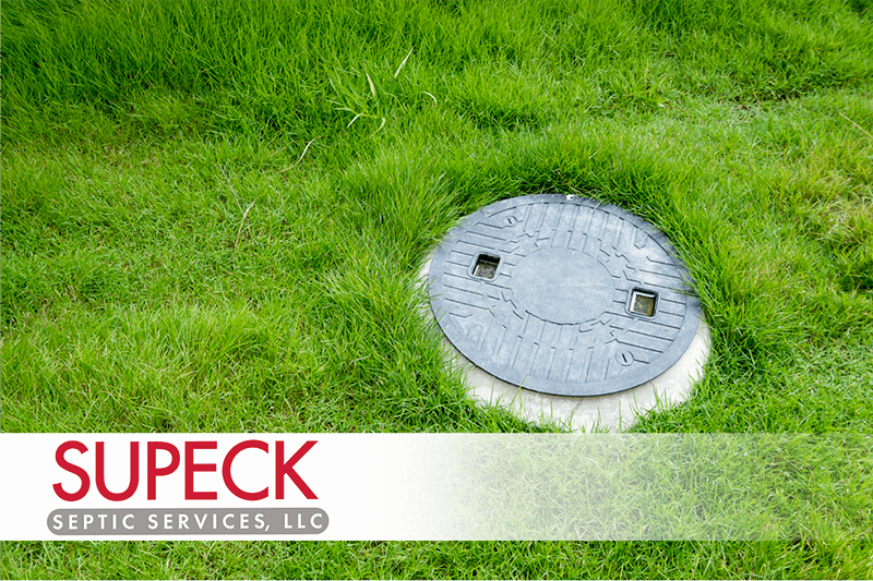 Septic Tank Riser in Grass