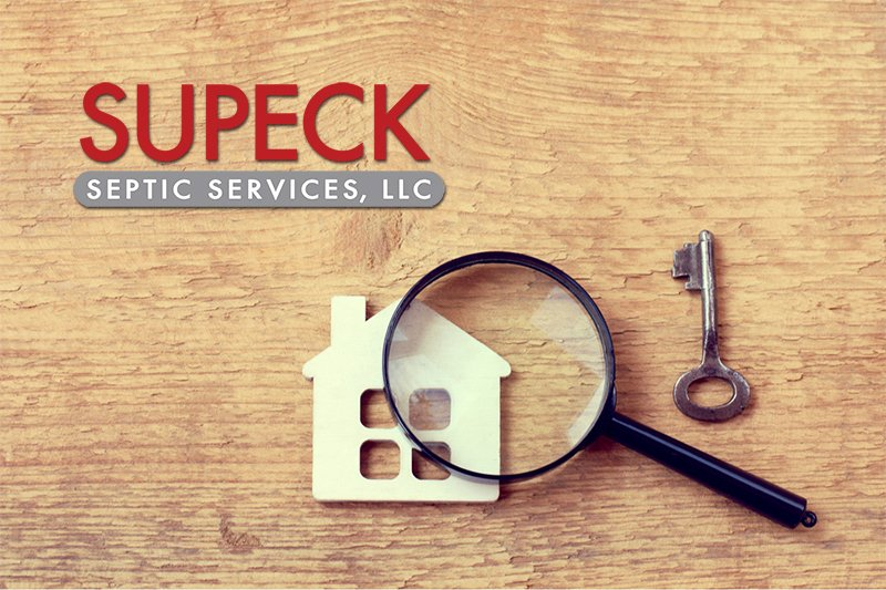 Reasons for Septic Inspection -Supeck Logo and home with key